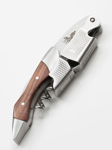 Limited edition steel and wood corkscrew (brown)
